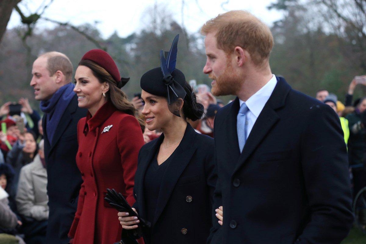 Príncipe Harry, Meghan Markle, Kate Middleton e príncipe William