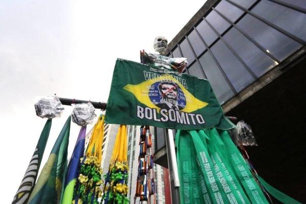 Manifestação contra o presidente Jair Bolsonaro em São Paulo3