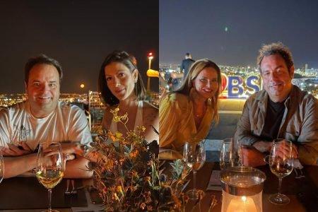 Cyro e Lara Torres com Claudia e Márcio Salomão