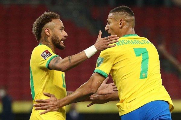 Neymar e Richarlison Seleção Brasileira