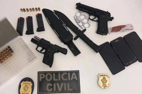 armas apreendidas com adolescentes que planejam ataque a escola em montividiu, goiás