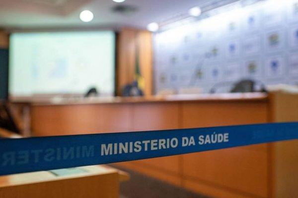 Coletiva de imprensa no Ministério da Saúde