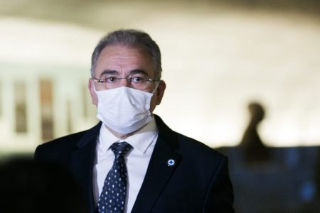 Marcelo Queiroga chega ao Senado para depor na CPI