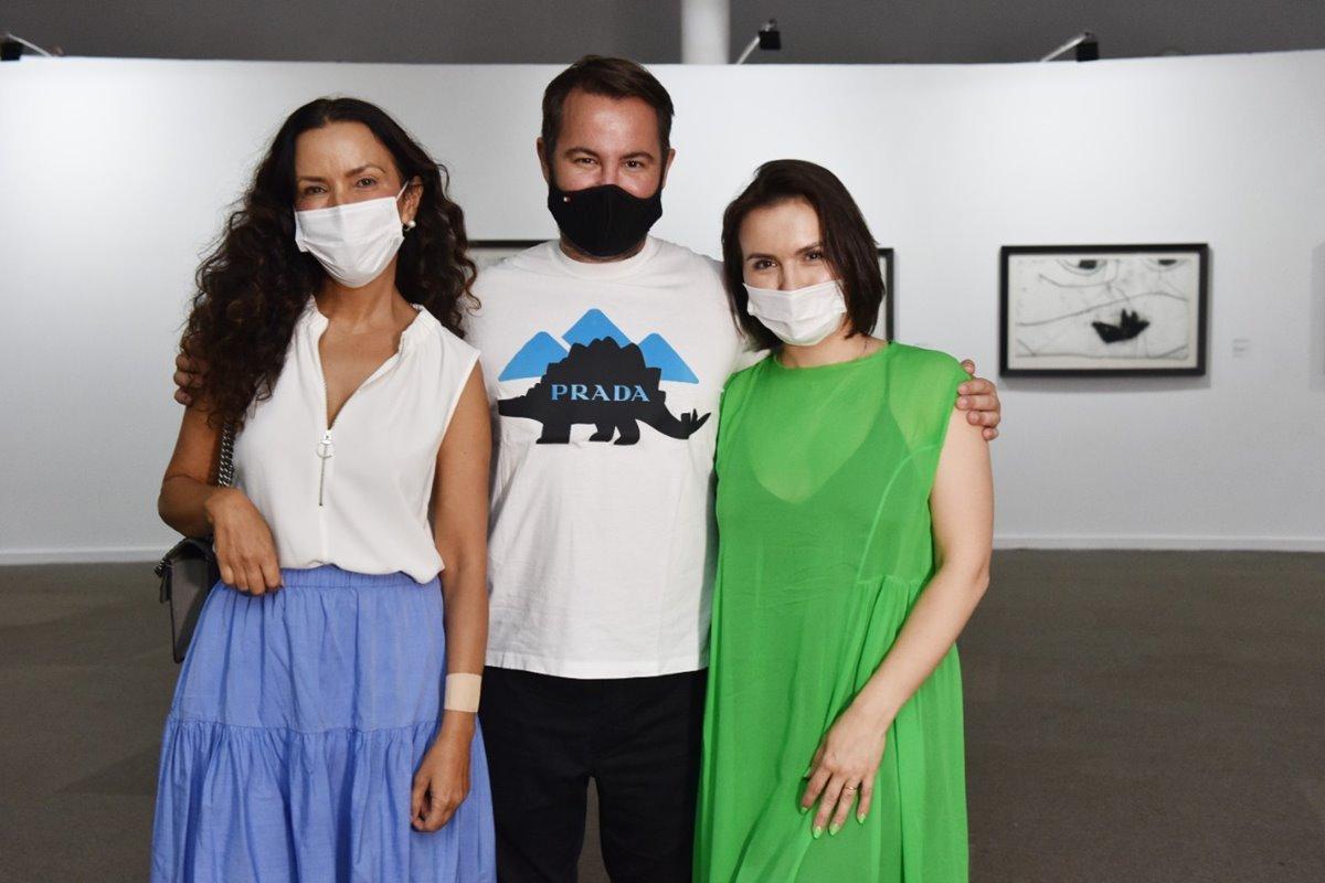 Claudia Meireles, Marcos Amaro e Ksenia Kogan Amaro