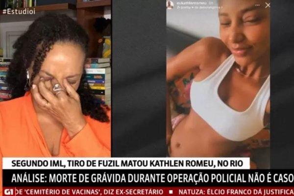 Repórter da GloboNews chora ao falar de Kethlen