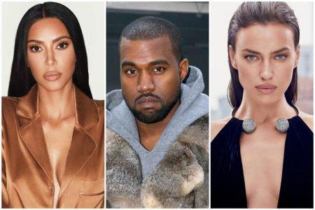 Kim Kardashian, Kanye West e Irina Shayk