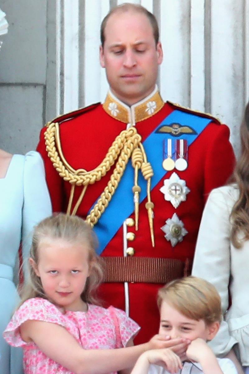 Príncipe William, Savannah Phillips e príncipe George