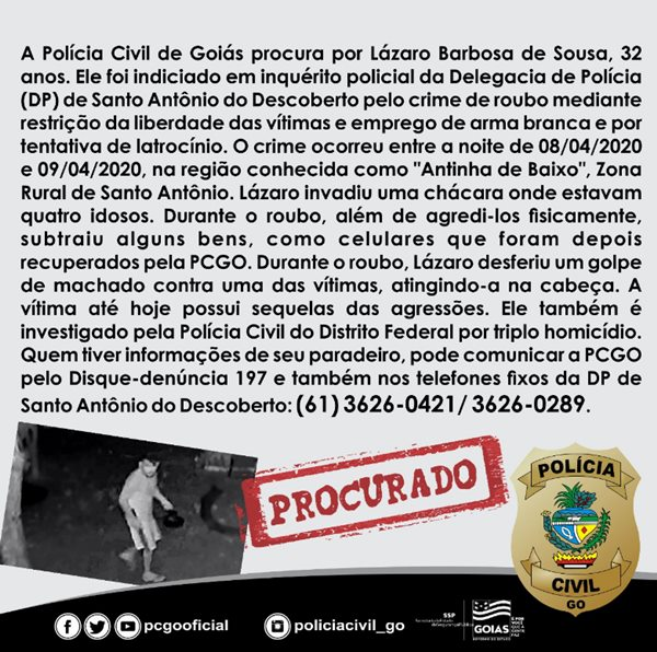 Triplo homicidio DF Goias machada 1
