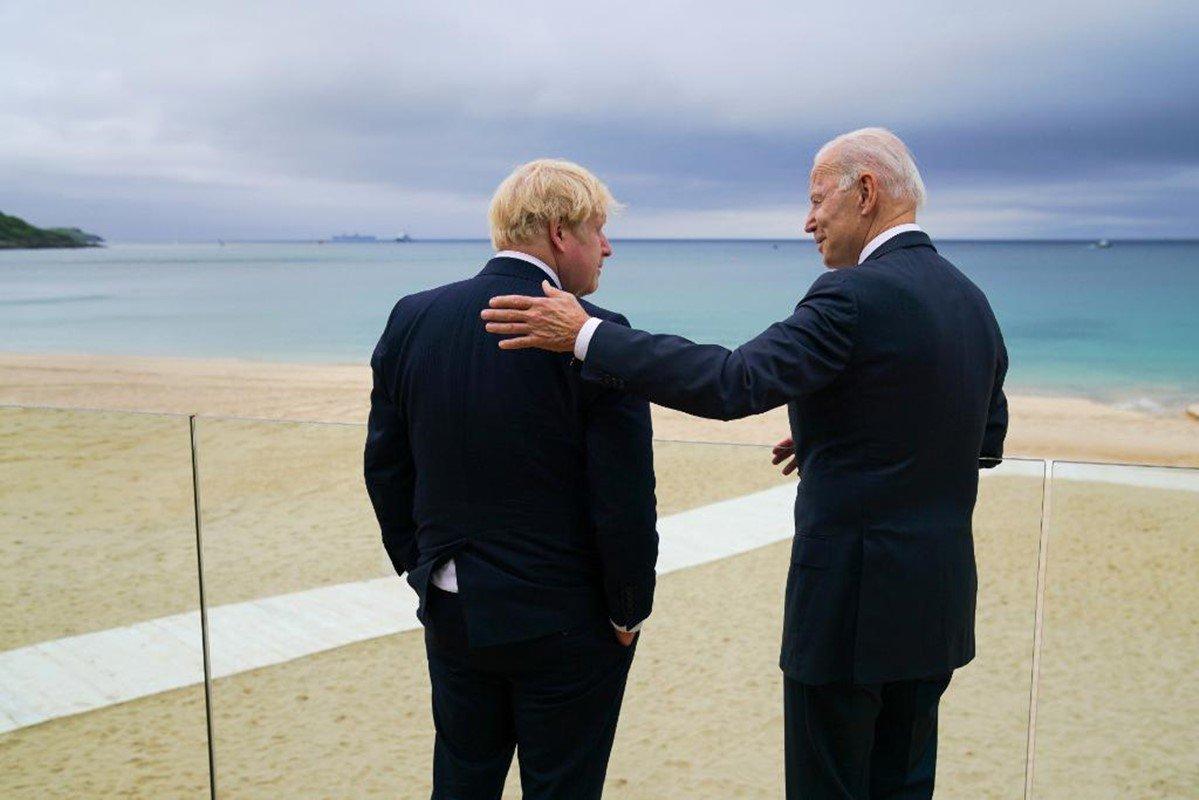 Boris Johnson e Joe Biden