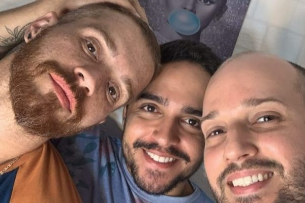 Da esquerda para direita, Alexandre, Lucas e Anderson