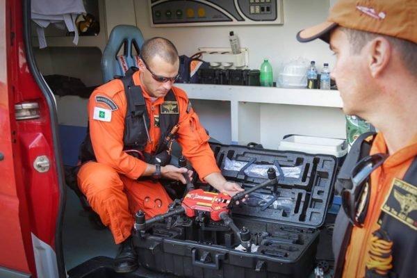 Drones do CBMDF ajudam nas buscas a Lázaro Barbosa