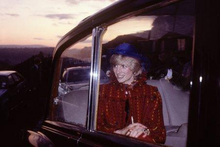 Princesa Diana em carro