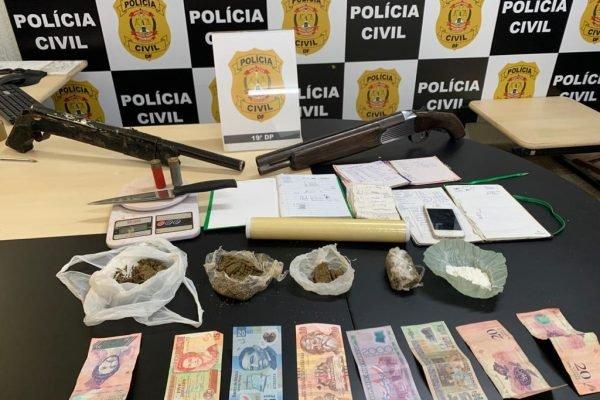 Homem é preso no DF com notas estrangeiras e por tráfico de drogas