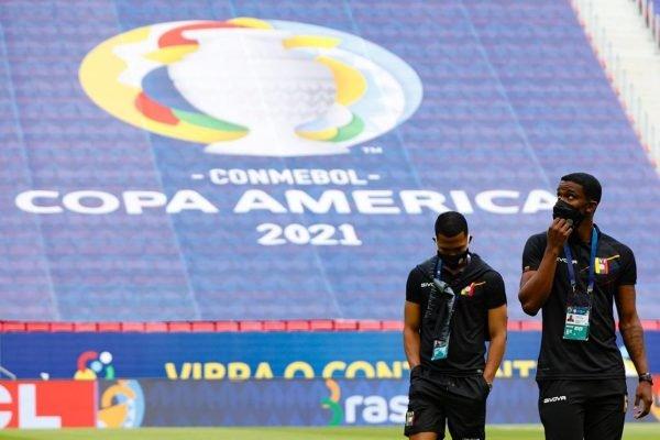 Jogadores da venezuela máscara Copa América