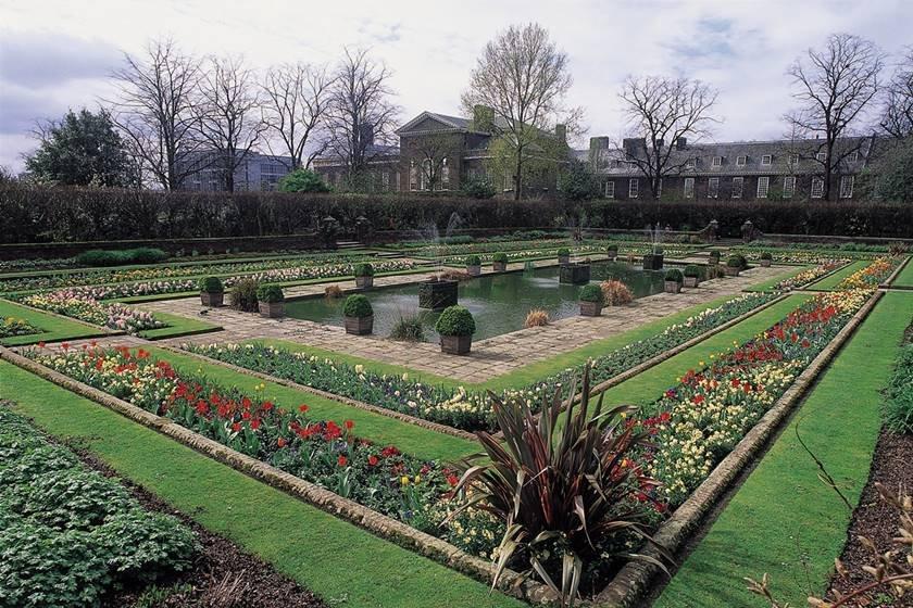 Jardim Afundado, no Palácio de Kensington