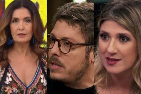 Fátima Bernades, Fábio Porchat e Dani Calabresa