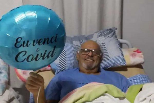 Ivan Nei Correia Graminho, 66 anos, passou 149 dias internado por causa da Covid-19