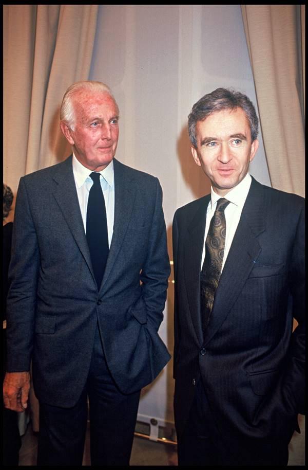 Hubert de Givenchy e Bernard Arnault