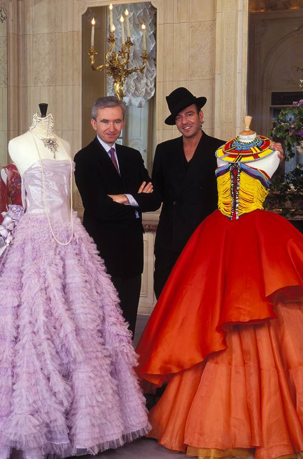 Bernard Arnault e John Galliano