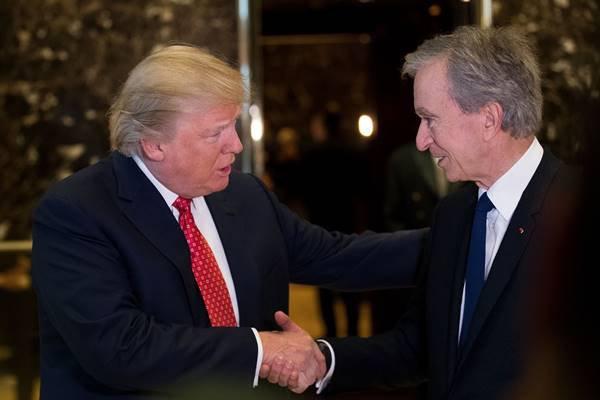 Donald Trump e Bernard Arnault