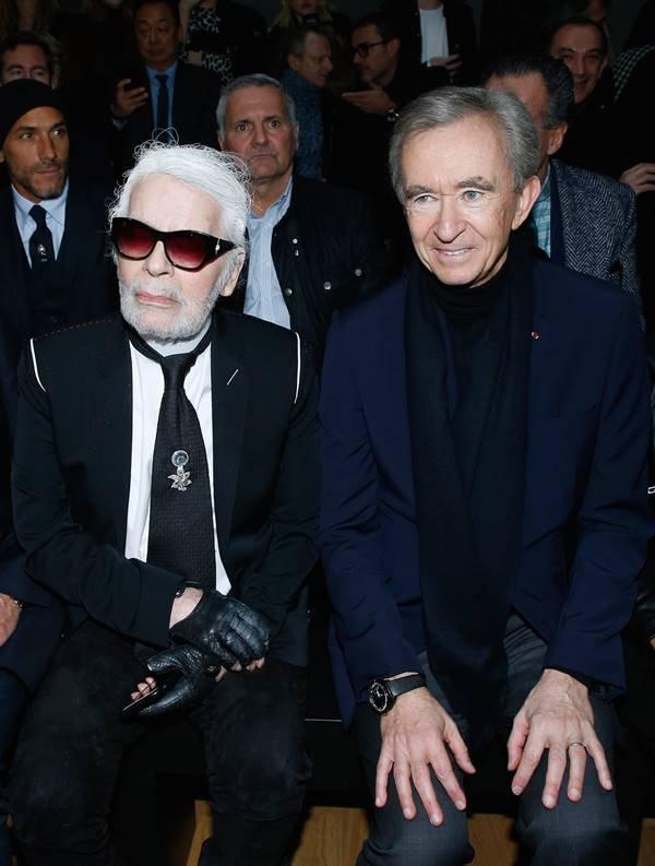 Karl Lagerfeld e Bernard Arnault