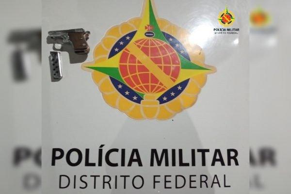 Arma em viatura da PMDF