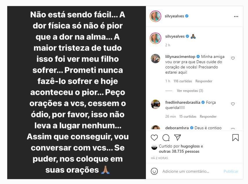 Post de Silvye Alves no Instagram
