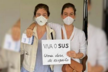 Renata Vasconcellos e sua irmã gemea , Lanza Mazza