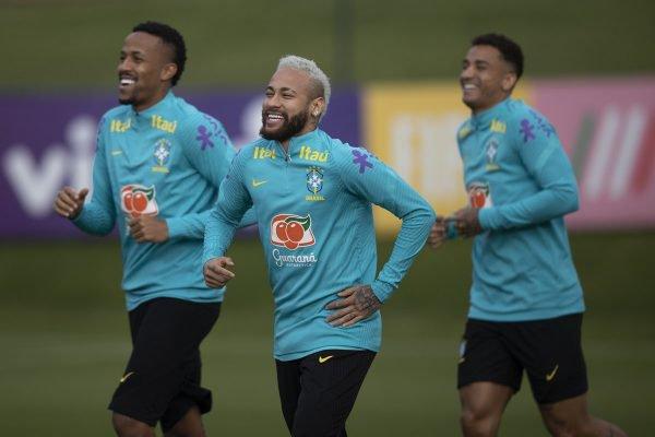 Neymar, Militão e Danilo treino Seleção Brasileira