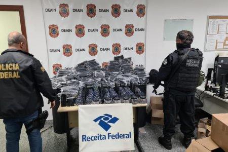Carregadores de fuzil apreendidos em ação da PF