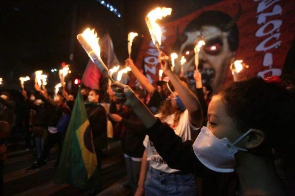 São Paulo - Manifestações contra o Governo Bolsonaro no Brasil