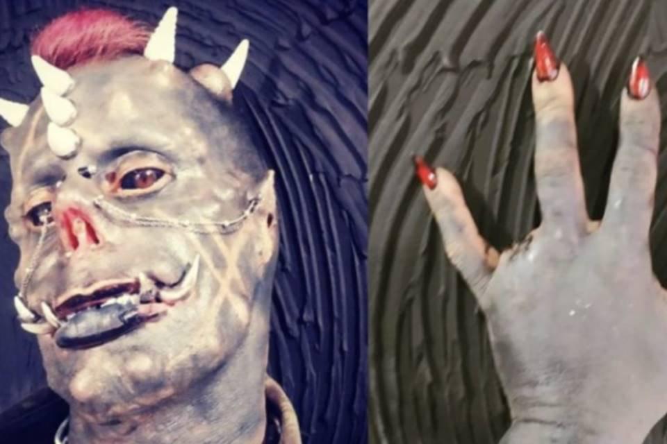 Tatuador amputa dedos para ter garras de demônio