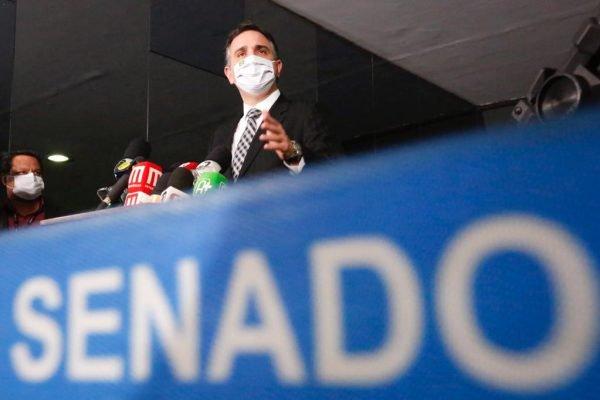 Coletiva de imprensa com presidente do Senado Federal, Rodrigo Pacheco.