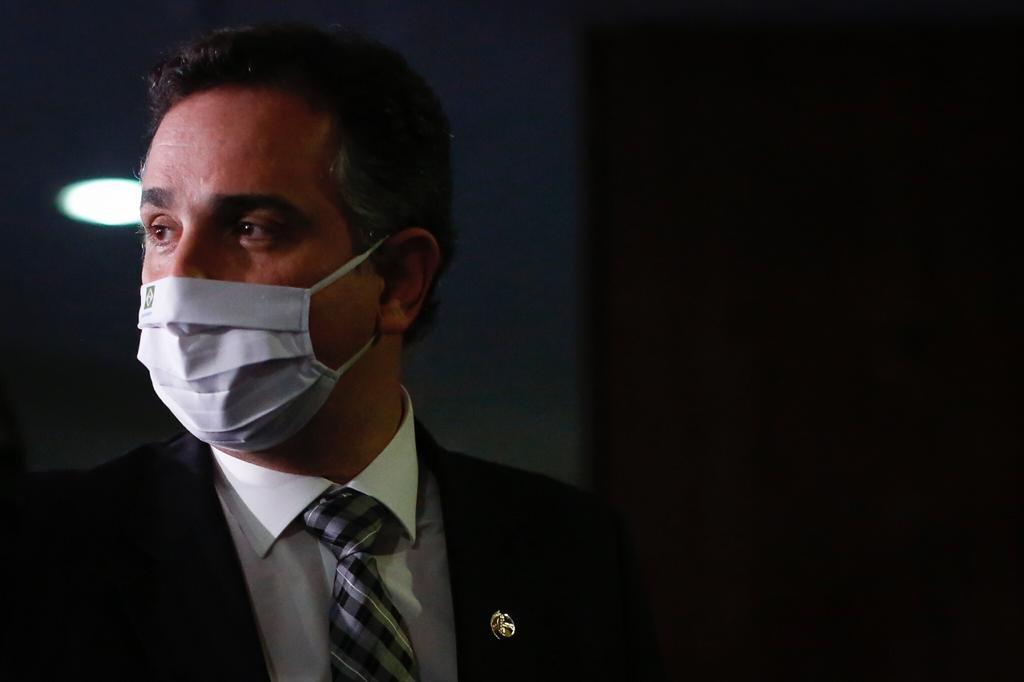 Coletiva de imprensa com presidente do Senado Federal, Rodrigo Pacheco 7