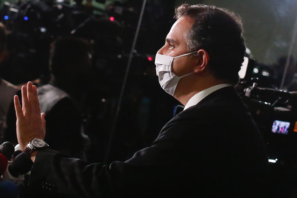 Coletiva de imprensa com presidente do Senado Federal, Rodrigo Pacheco