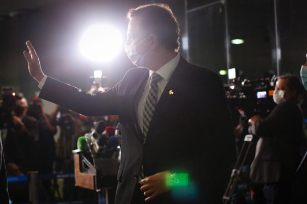 Coletiva de imprensa com presidente do Senado Federal, Rodrigo Pacheco 9