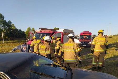 Capotamento na 070 deixa 5 feridos