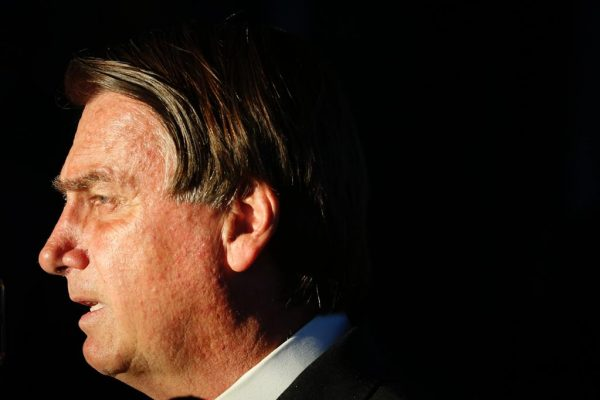 Presidente Jair Bolsonaro fala com à imprensa após o encontro com presidente do STF Luiz Fux 1