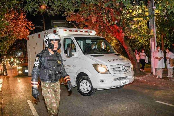 Presidente Jair Bolsonaro chega ao Hospital Vila Nova Star, na zona sul de São Paulo