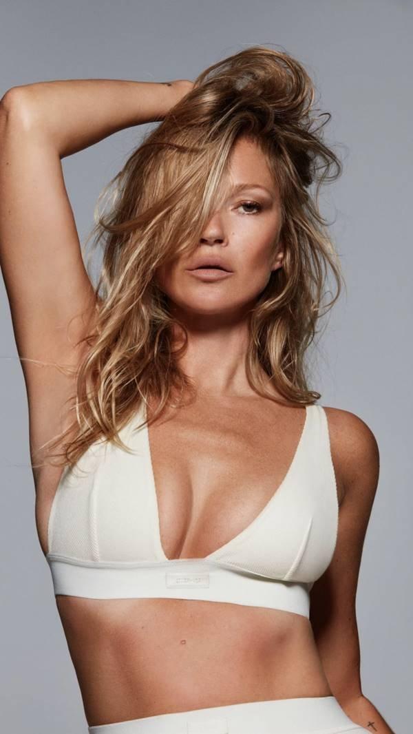 Kate Moss em campanha de lingerie
