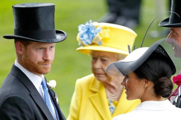 Príncipe Harry, Meghan Markle e rainha Elizabeth II