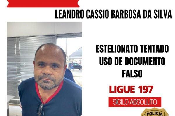 Leandro Cassio Barbosa da Silva, preso por estelionato