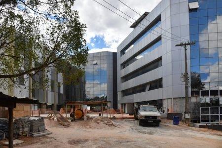 Obra de construção da nova sede da PGDF