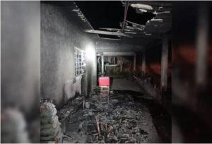 Casa incendiada lazaro