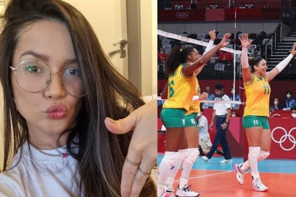 Juliette Freire e time de volei do brasil