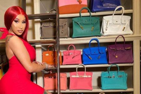 Cardi B e sua coleção de bolsas Birkin, da Hermès