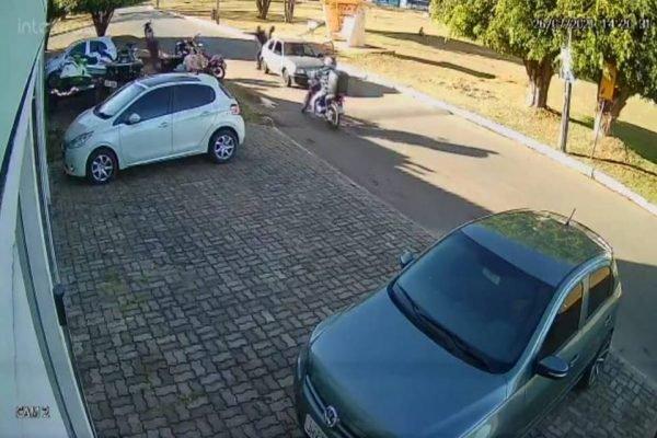 Imagens de câmera de segurança