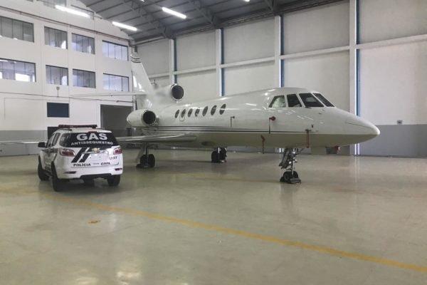 Aeronave apreendida por Operação Ícarus, em Goiás, em 2018