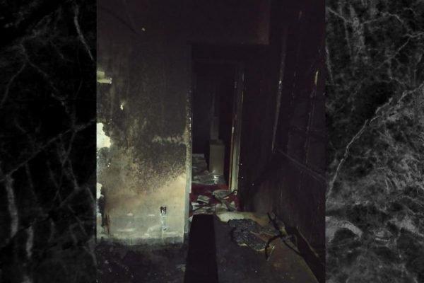 Casa de idosa incendiada. Homem foi preso suspeito do crime