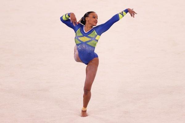 Rebeca Andrade é uma ginasta artística brasileira, medalhista olímpica